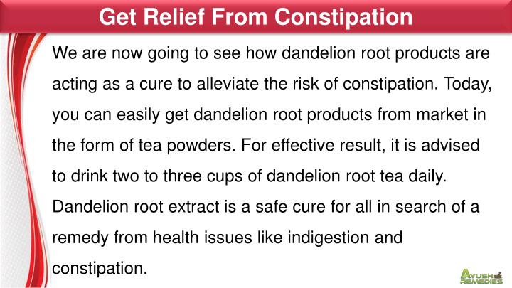 Get Relief From Constipation