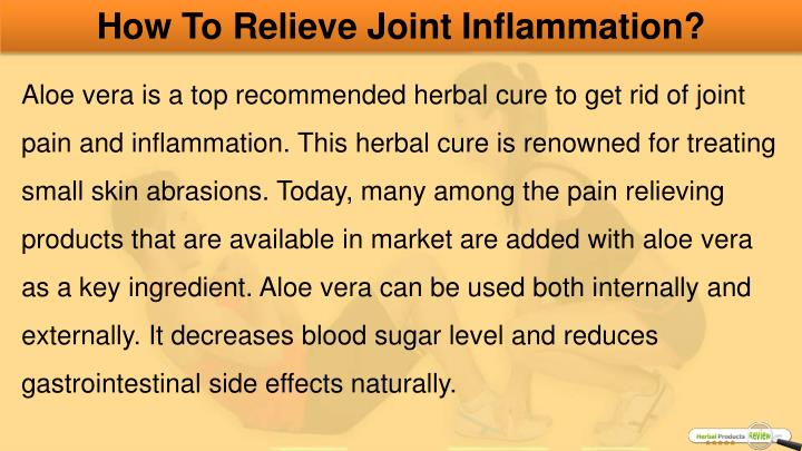 How To Relieve Joint Inflammation?