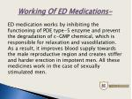 working of ed medications
