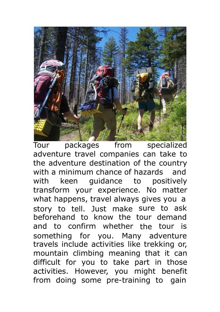 Tour packages from specialized
