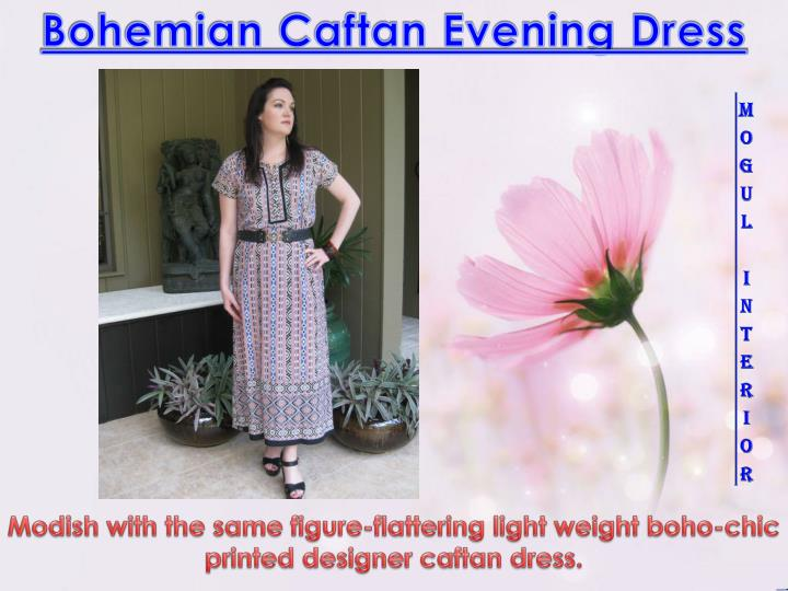 bohemian caftan evening dress n.