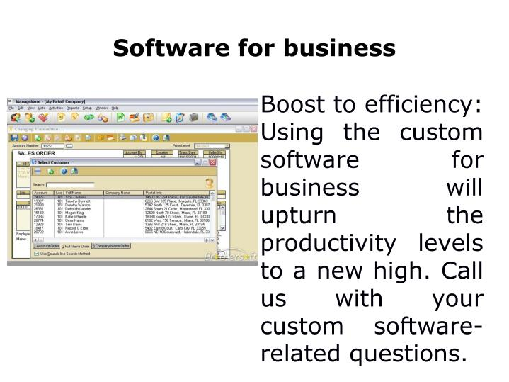 Software for business