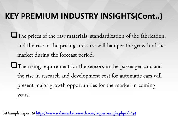 Key premium industry insights cont