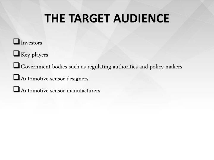 THE TARGET AUDIENCE