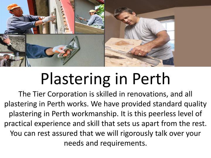 Plastering in Perth