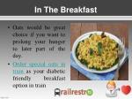 in the breakfast