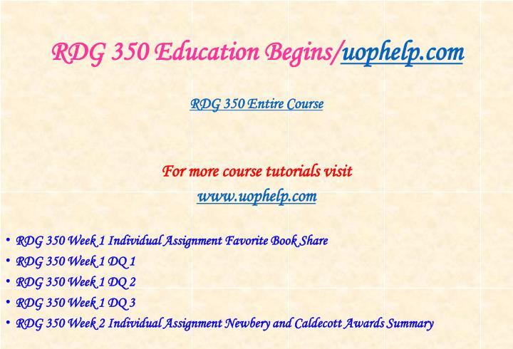 Rdg 350 education begins uophelp com1