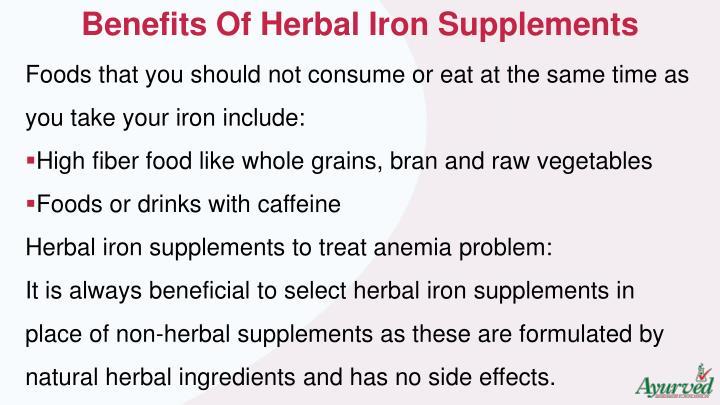 Benefits Of Herbal Iron Supplements