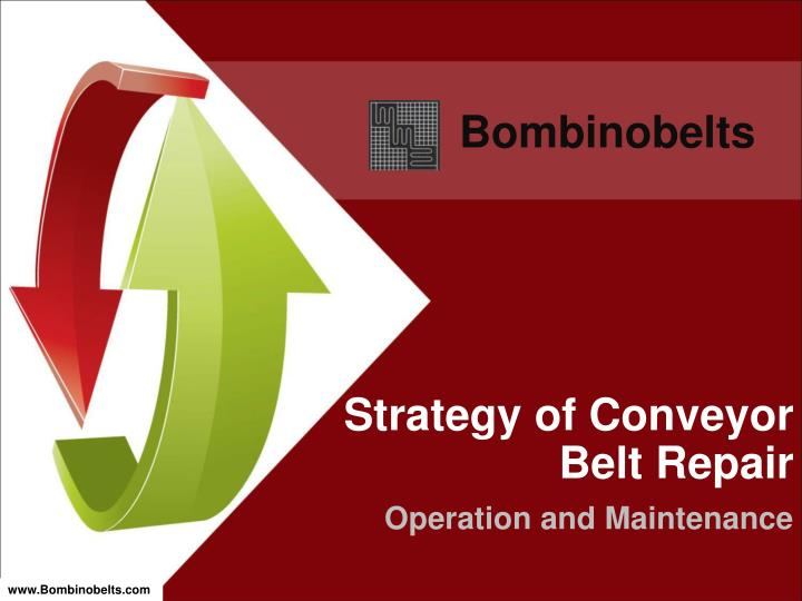 Strategy of conveyor belt repair