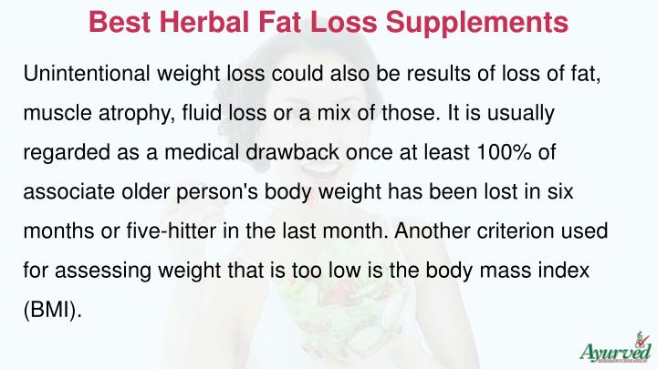 Best Herbal Fat Loss Supplements