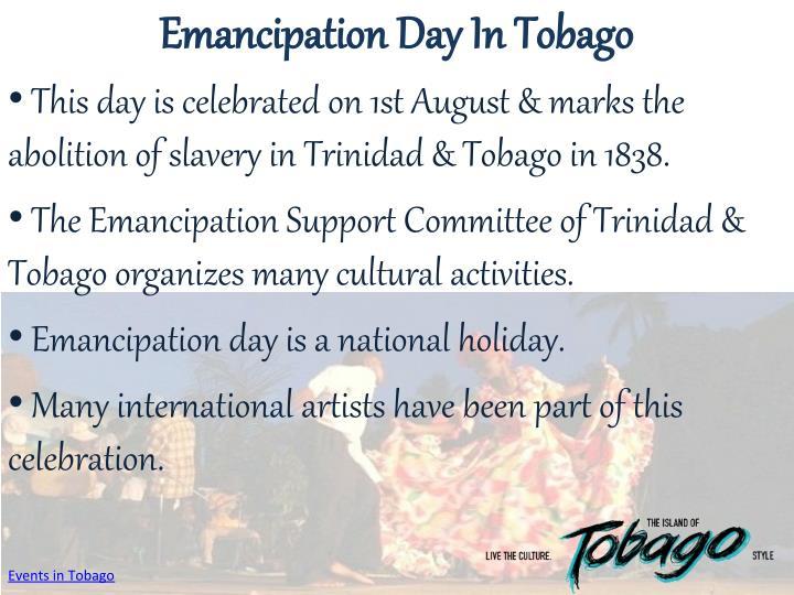 Emancipation Day In Tobago