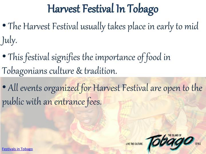 Harvest Festival In Tobago