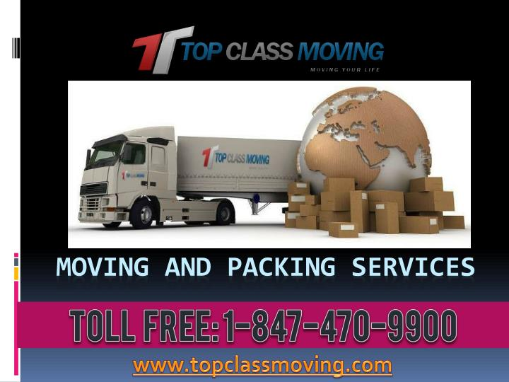 moving and packing services n.