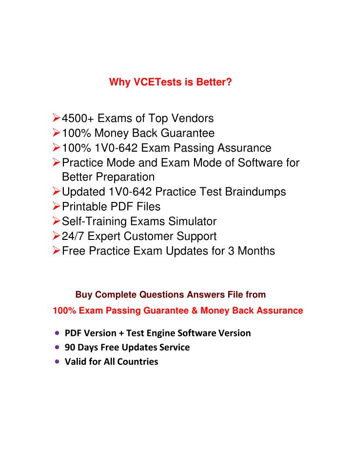 Why VCETests is Better?