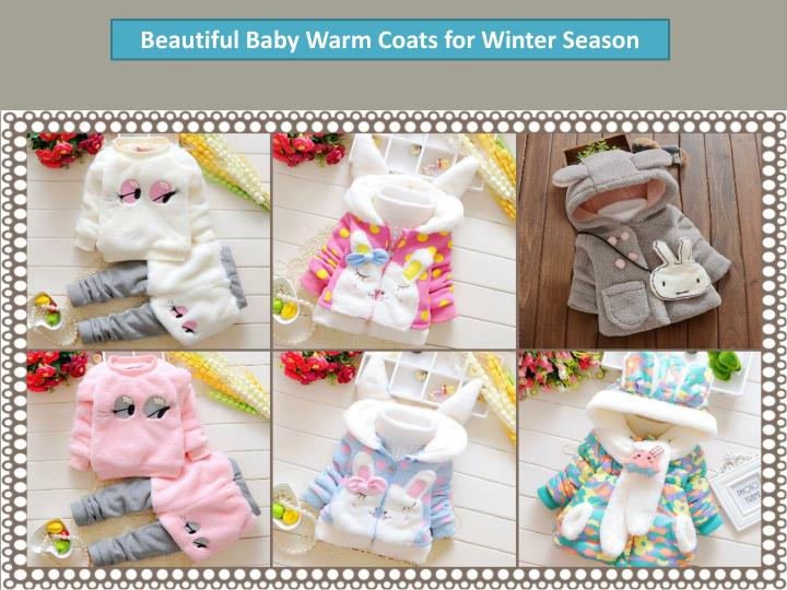Beautiful Baby Warm Coats for Winter Season