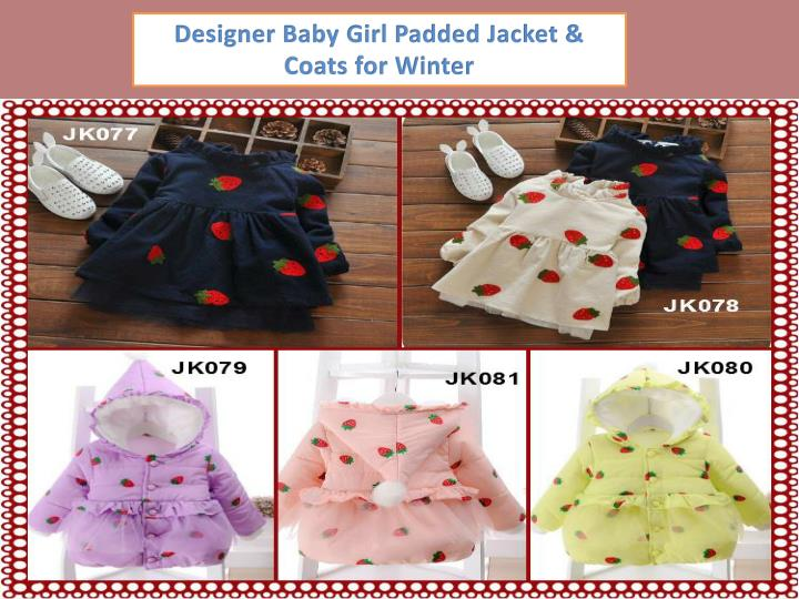Designer Baby Girl Padded Jacket & Coats for Winter