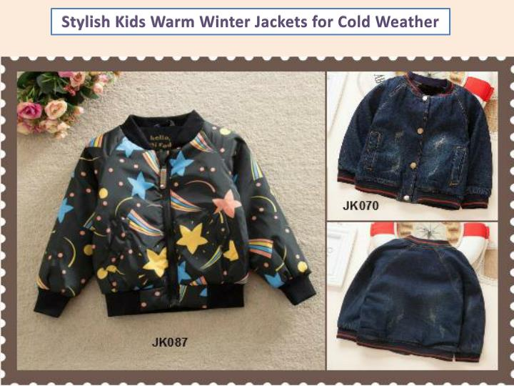 Stylish Kids Warm Winter Jackets for Cold Weather