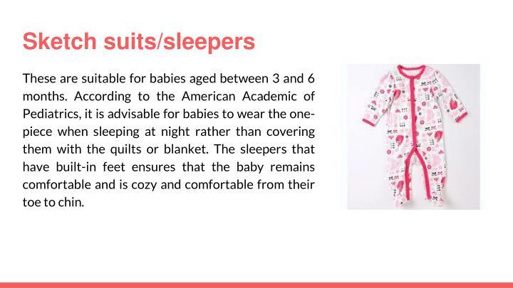 Sketch suits/sleepers
