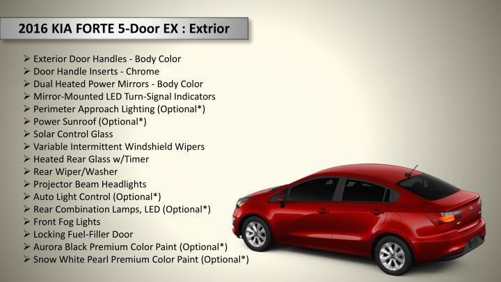 2016 KIA FORTE 5-Door EX : Extrior