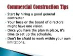 commercial construction tips