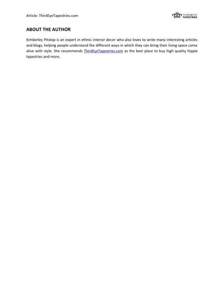 Article: ThirdEyeTapestries.com