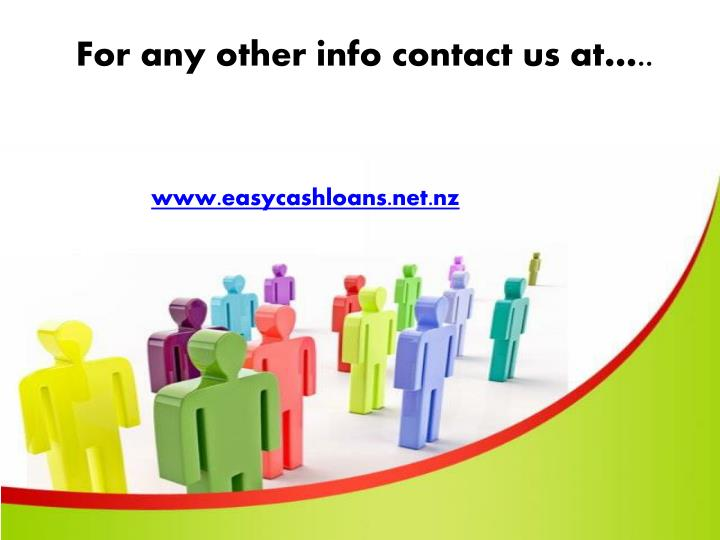 For any other info contact us at…..