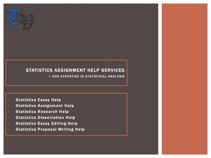 Statistics assignment help services our expertise in statistical analysis