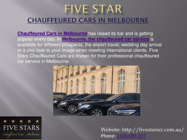 Five star chauffeured cars in melbourne