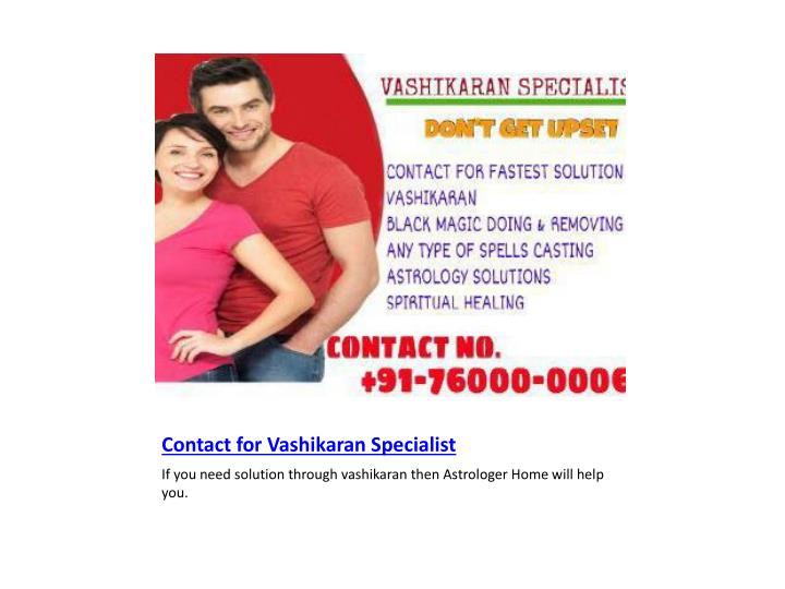 Contact for Vashikaran Specialist