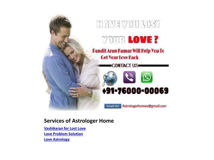 Services of astrologer home2