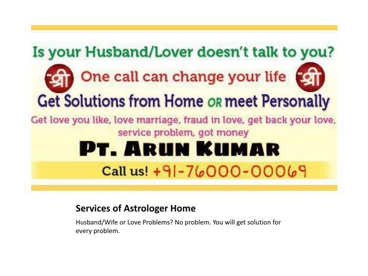 Services of Astrologer Home