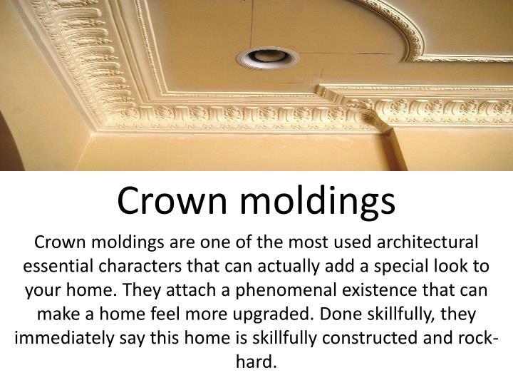 Crown moldings