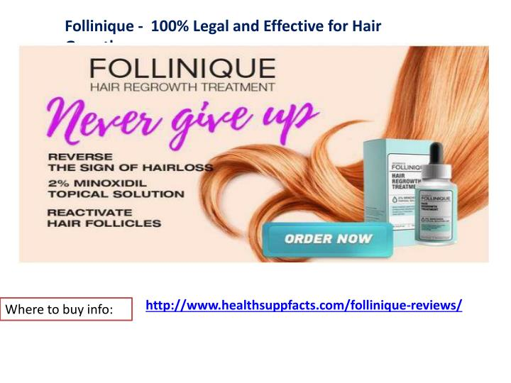 Follinique - 100% Legal and Effective for Hair