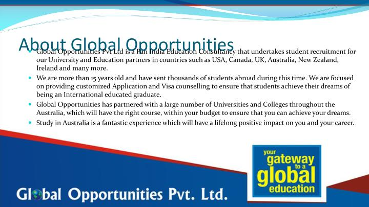 About Global Opportunities