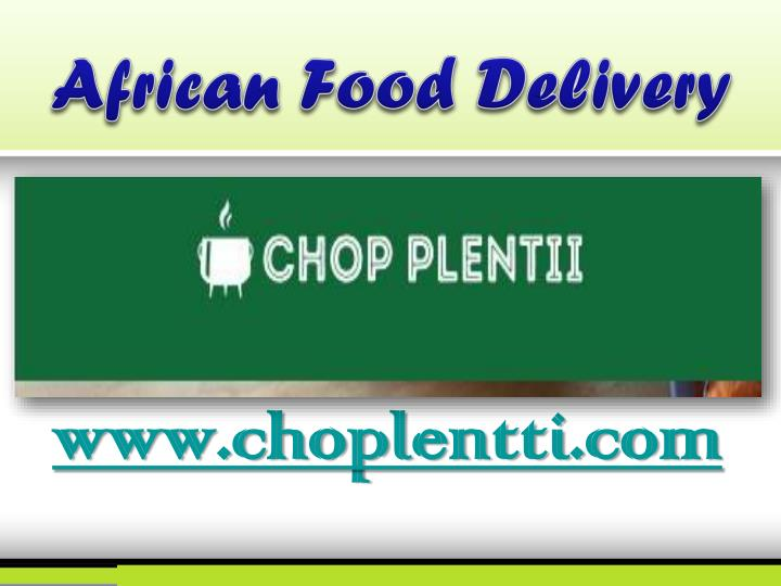 African food delivery