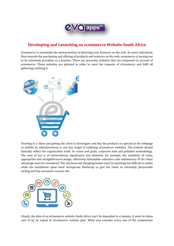 Developing and Launching an ecommerce Website South Africa