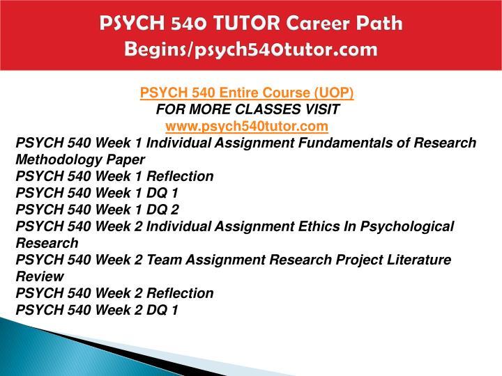 Psych 540 tutor career path begins psych540tutor com1