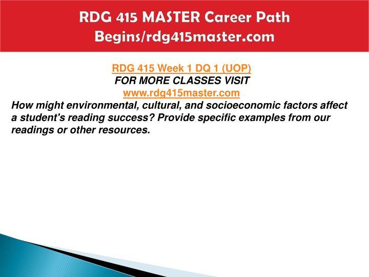 Rdg 415 master career path begins rdg415master com2