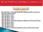 sec 420 tutor career path begins sec420tutor com1