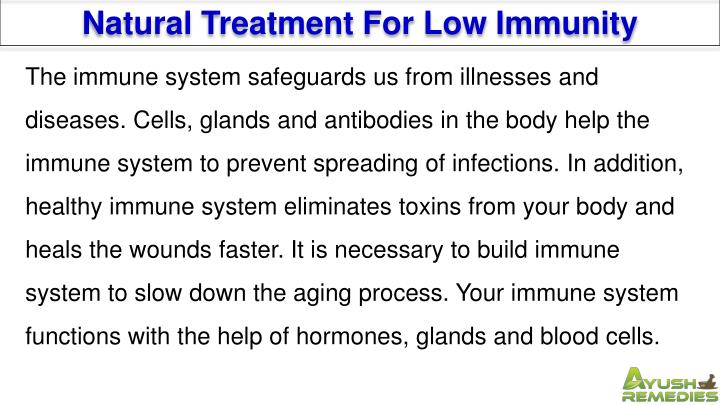 Natural Treatment For Low Immunity