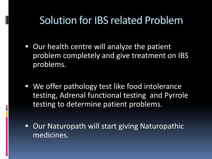 Solution for IBS related Problem