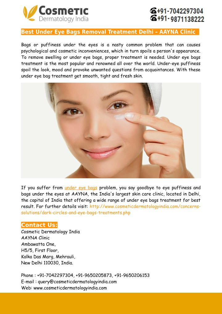 Best Under Eye Bags Removal Treatment Delhi – AAYNA Clinic
