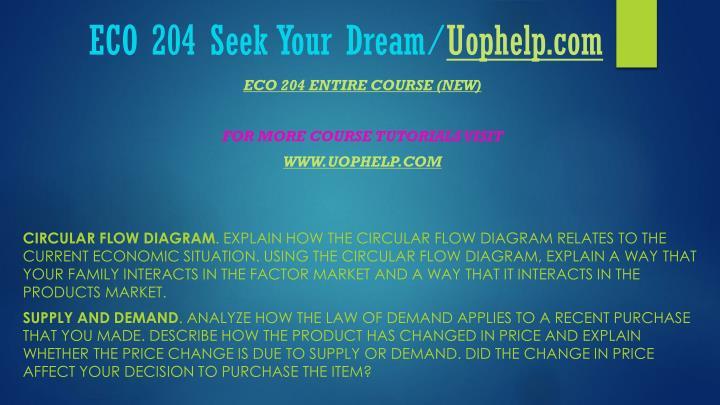 Eco 204 seek your dream uophelp com1