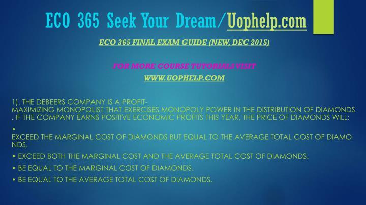 Eco 365 seek your dream uophelp com1