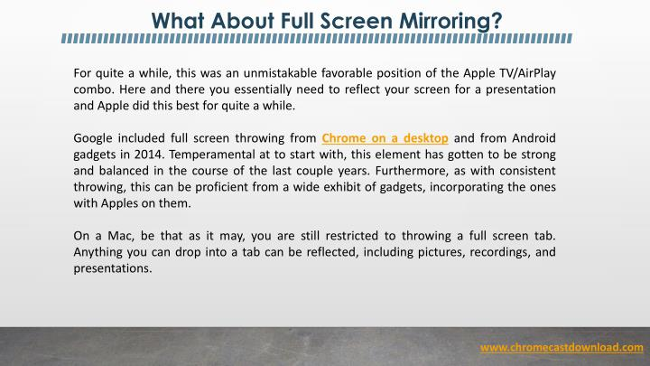 What About Full Screen Mirroring?