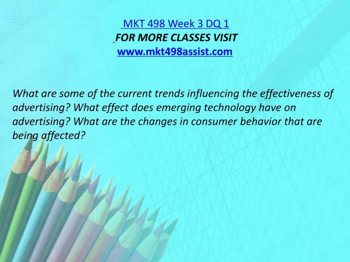 MKT 498 Week 3 DQ 1