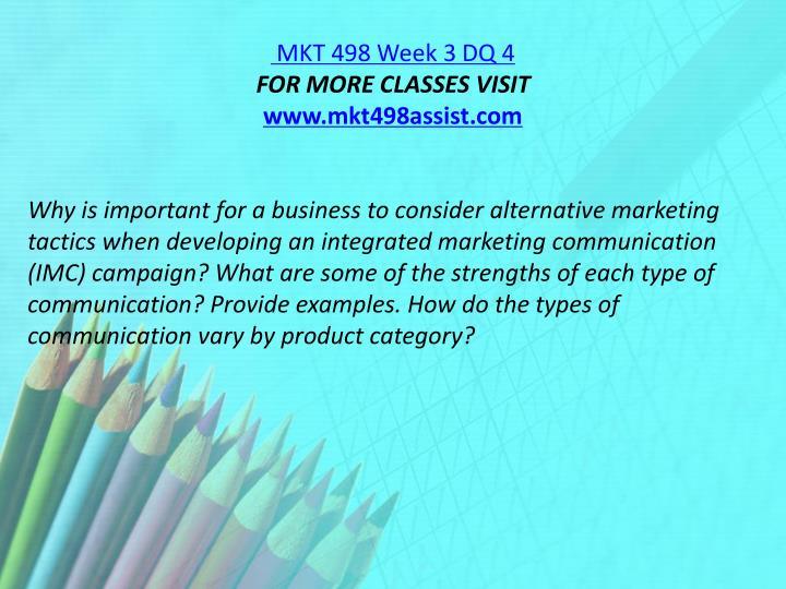 MKT 498 Week 3 DQ 4
