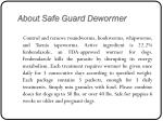 about safe guard dewormer
