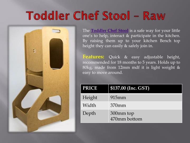 Toddler Chef Stool – Raw
