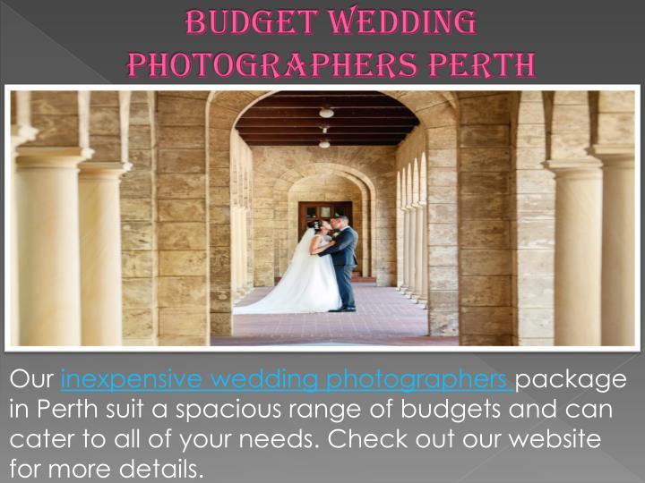 Budget wedding photographers perth